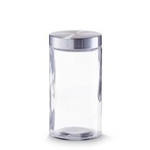 Achat en ligne Pot de conservation en verre et inox 11x21,5cm