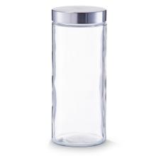 Achat en ligne Pot de conservation en verre et inox 11x27cm