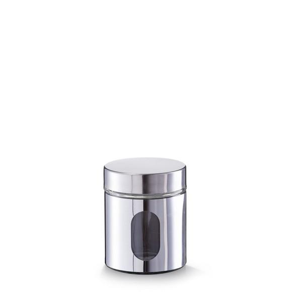 Barattolo in metallo con oblò in vetro 500ml