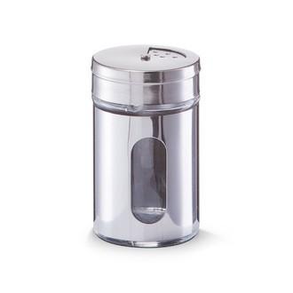 Pot à épices métal avec fenêtre en verre 5x8,5cm