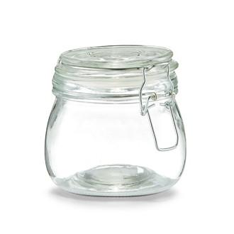 Pot de conservation en verre avec couvercle à clip 500ML
