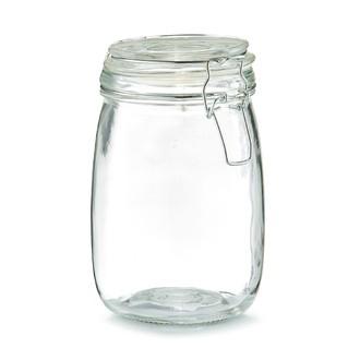 Pot de conservation en verre avec couvercle à clip 1L