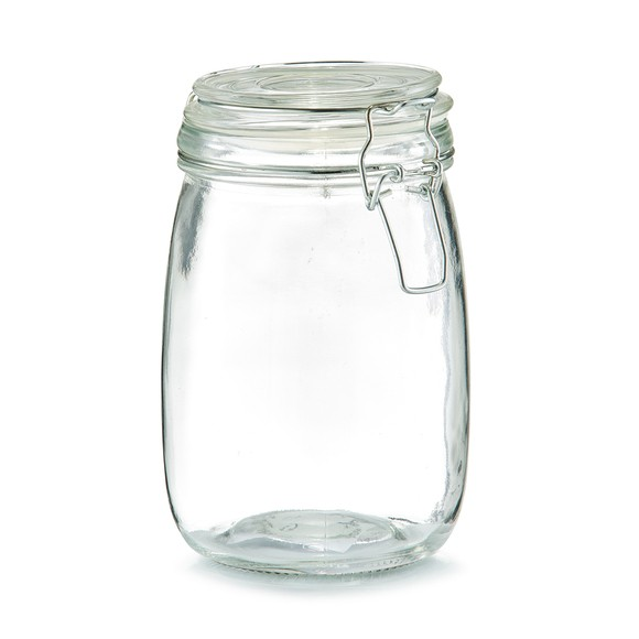 Barattolo in vetro con chiusura a clip 1L