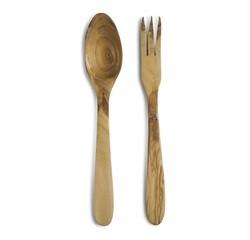 acquista online Set posate per insalata in legno