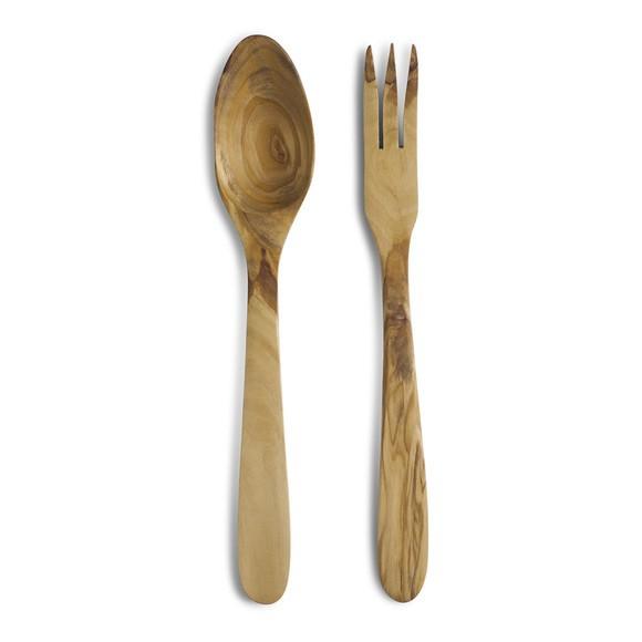 Set posate per insalata in legno