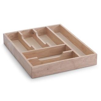 Range couverts avec 6 compartiments en bois