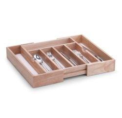 Achat en ligne Range couverts extensible à 7 compartiments en bois