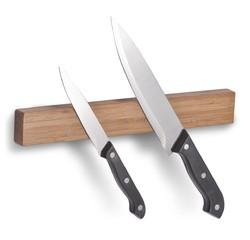 compra en línea Barra soporte para cuchillos magnética de bambú (30cm)