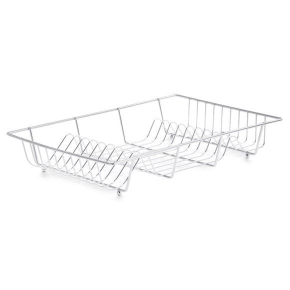 Egouttoir à vaisselle en filaire chromé 48x32,5x8cm