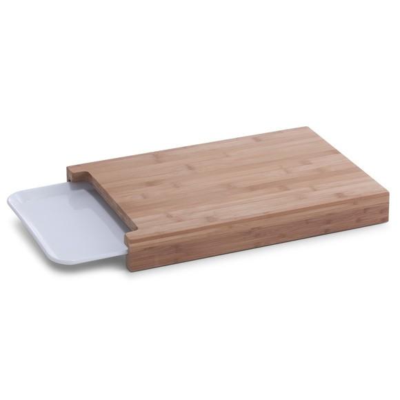 Achat en ligne Planche avec plateau de récupération en bambou 38x26x4,5cm