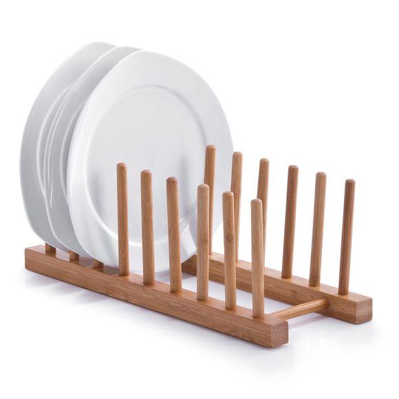 Égouttoir à vaisselle en bambou 34x12,5X10cm