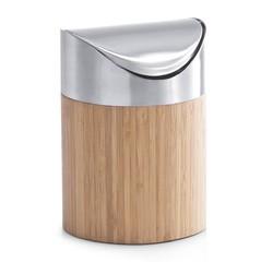 acquista online Cestino bagno in bambù e acciaio inox