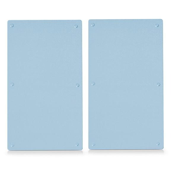 Set di 2 taglieri proteggi fuochi in vetro, 52x30cm