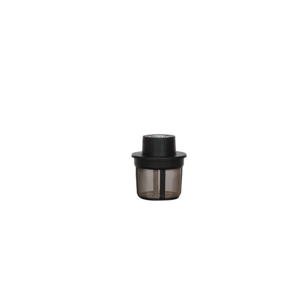 Achat en ligne Filtre à thé noir micromaille en métal et plastique taille M