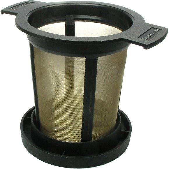 Achat en ligne Filtre à thé noir micromaille en métal et plastique taille L