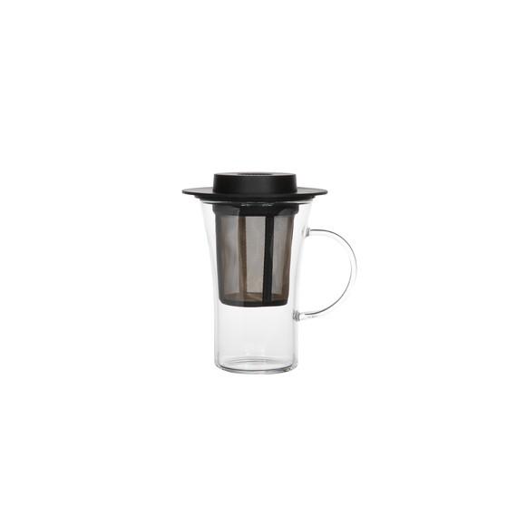 Verre à thé avec filtre noir 28cl