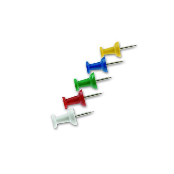 Set de 12 punaises en acier zingué Ø2,5cm