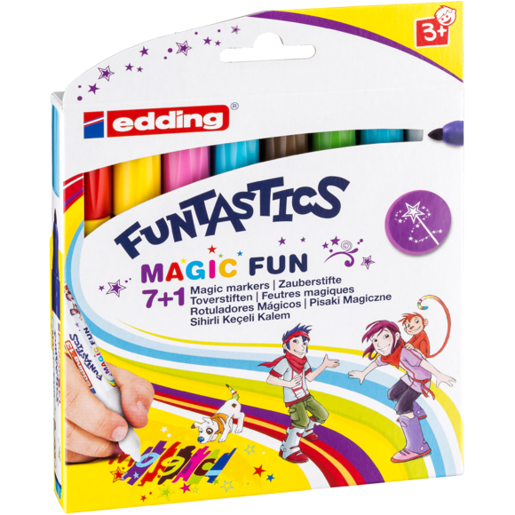 Set de 8 feutres funtastics Magic fun