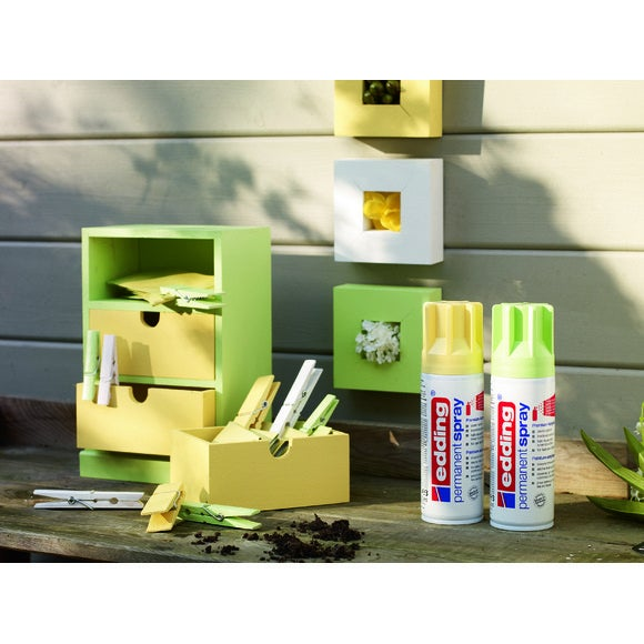 Peinture aérosol jaune pastel mat en spray 200 ml