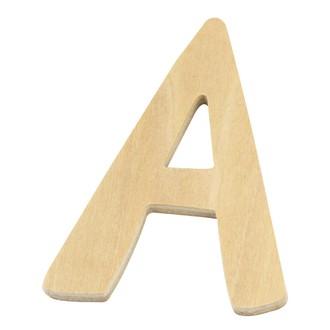 Lettre A en bois 6cm