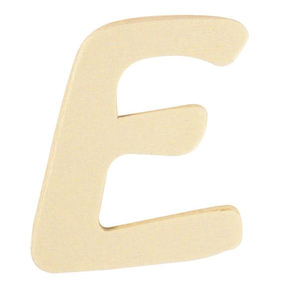 Lettre E en bois 6cm