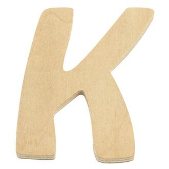 Lettre K en bois 6cm