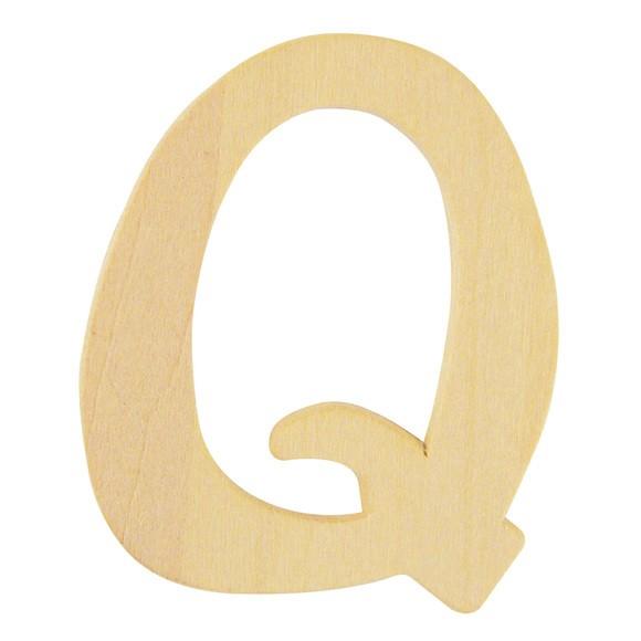 Lettre Q en bois 6cm