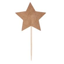 Achat en ligne Set de 10 étoiles en kraft sur pique