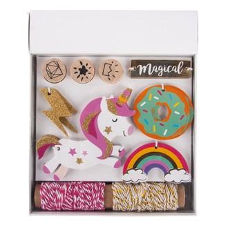 Kit Pendentifs Unicorne, Tags+cordon+tampon