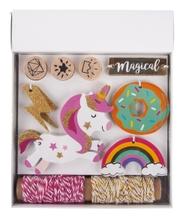 Achat en ligne Kit Pendentifs Unicorne, Tags+cordon+tampon