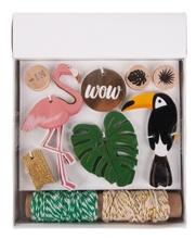 Achat en ligne Kit cadeaux Tropical  tags+cordon+tampon