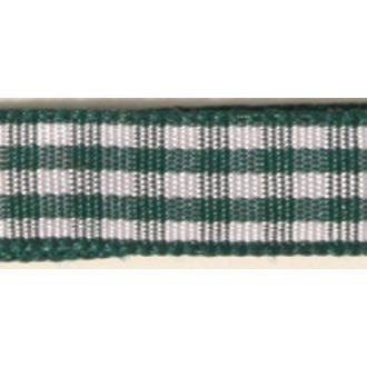 RAYHER - Bobine de ruban vichy vert antique 9,5mm 10m