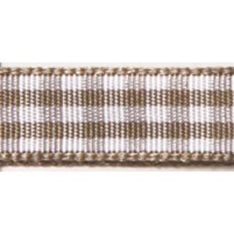 RAYHER - Bobine de ruban vichy brun moyen 9,5mm 10m