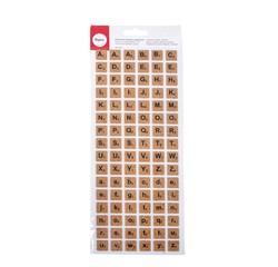 Achat en ligne Set de 96 stickers alphabet carré liège