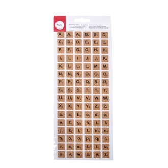 RAYHER - Set de 96 stickers alphabet carré liège
