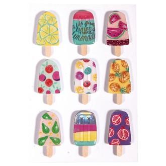 3D sticker en papier Ice-Cream 9pces