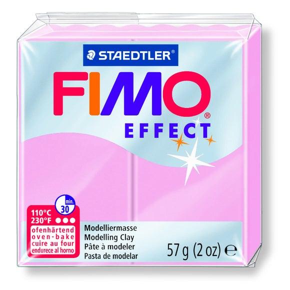 Pâte à modeler à cuire rose pastel Fimo Effect 8020-205 57g