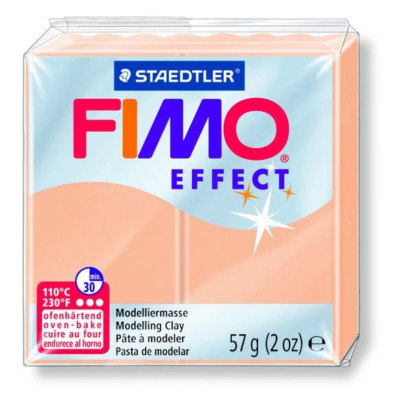 Pâte à modeler à cuire pêche Fimo Effect 8020-405 57g