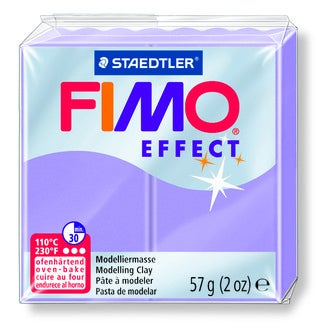 Pâte à modeler à cuire lilas pastel fimo effect 8020-605 57g