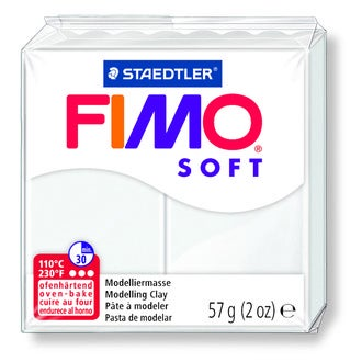 Pâte à modeler à cuire blanc Fimo Soft 8020-0 57g