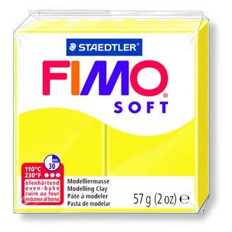 Pâte à modeler à cuire citron fimo soft 8020-10 57g