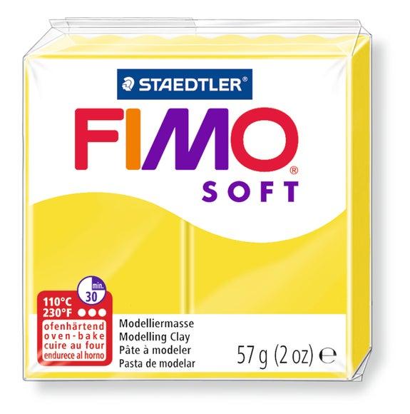 Achat en ligne Pâte à modeler à cuire citron Fimo Soft 8020-10 57g