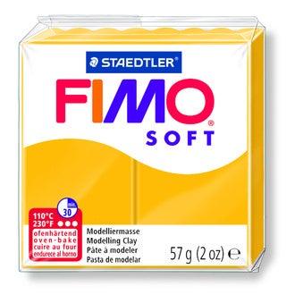 Pâte à modeler à cuire jaune soleil Fimo Soft 8020-16 57g
