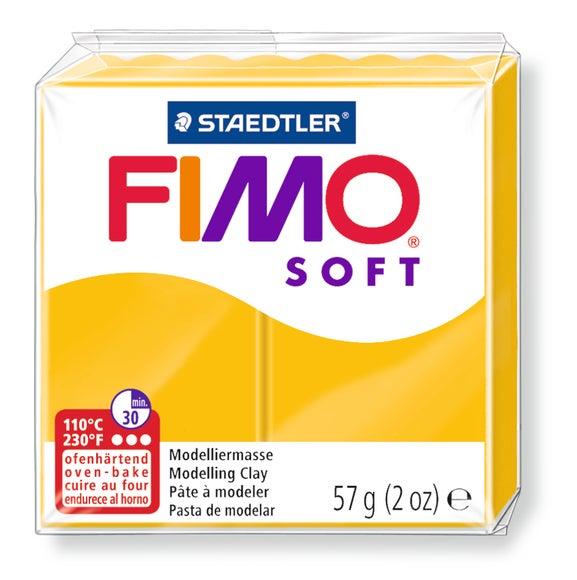 Achat en ligne Pâte à modeler à cuire jaune soleil Fimo Soft 8020-16 57g
