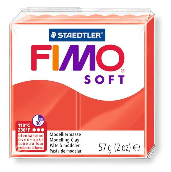 Achat en ligne Pâte à modeler à cuire rouge indien Fimo Soft 8020-24 57g