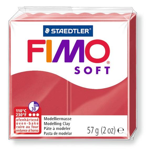Achat en ligne Pâte à modeler à cuire cerise Fimo Soft 8020-26 57g