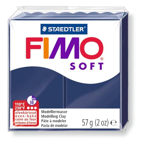 Achat en ligne Pâte à modeler à cuire bleu foncé Fimo Soft 8020-35 57g