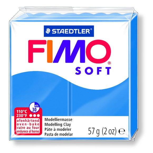 Pâte à modeler à cuire bleu pacifique Fimo Soft 8020-37 57g