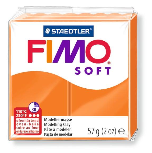 Achat en ligne Pâte à modeler à cuire mandarine Fimo Soft 8020-42 57g