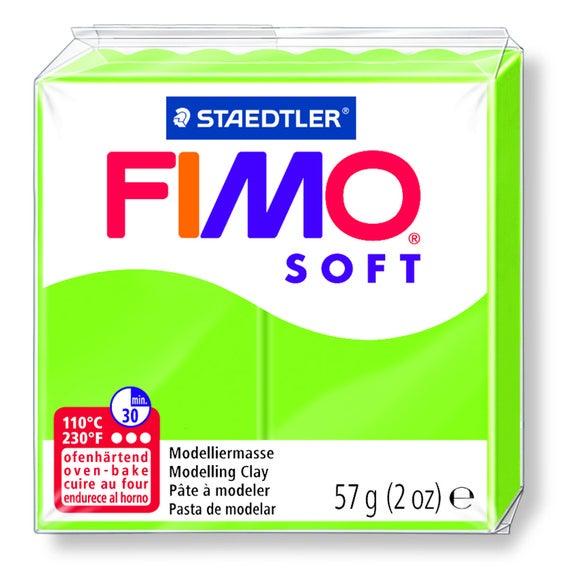 Pâte à modeler à cuire vert pomme Fimo Soft 8020-50 57g